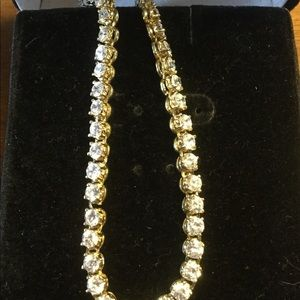 Jewelry - Vintage sterling silver Cz neckless